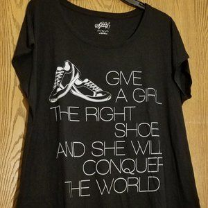 Style & Co Sport - Give a Girl the Right Shoe Tee